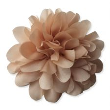 9cm Silky Bloom BAILEY CREAM Fabric Flower Applique